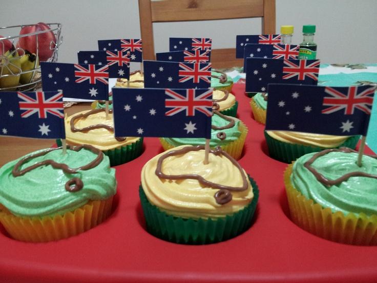 Australia Day cupcakes