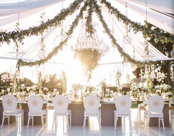 Green Garden-Inspired White Tent Wedding Reception & 119 best Wedding-Tent images on Pinterest | Wedding ideas ...
