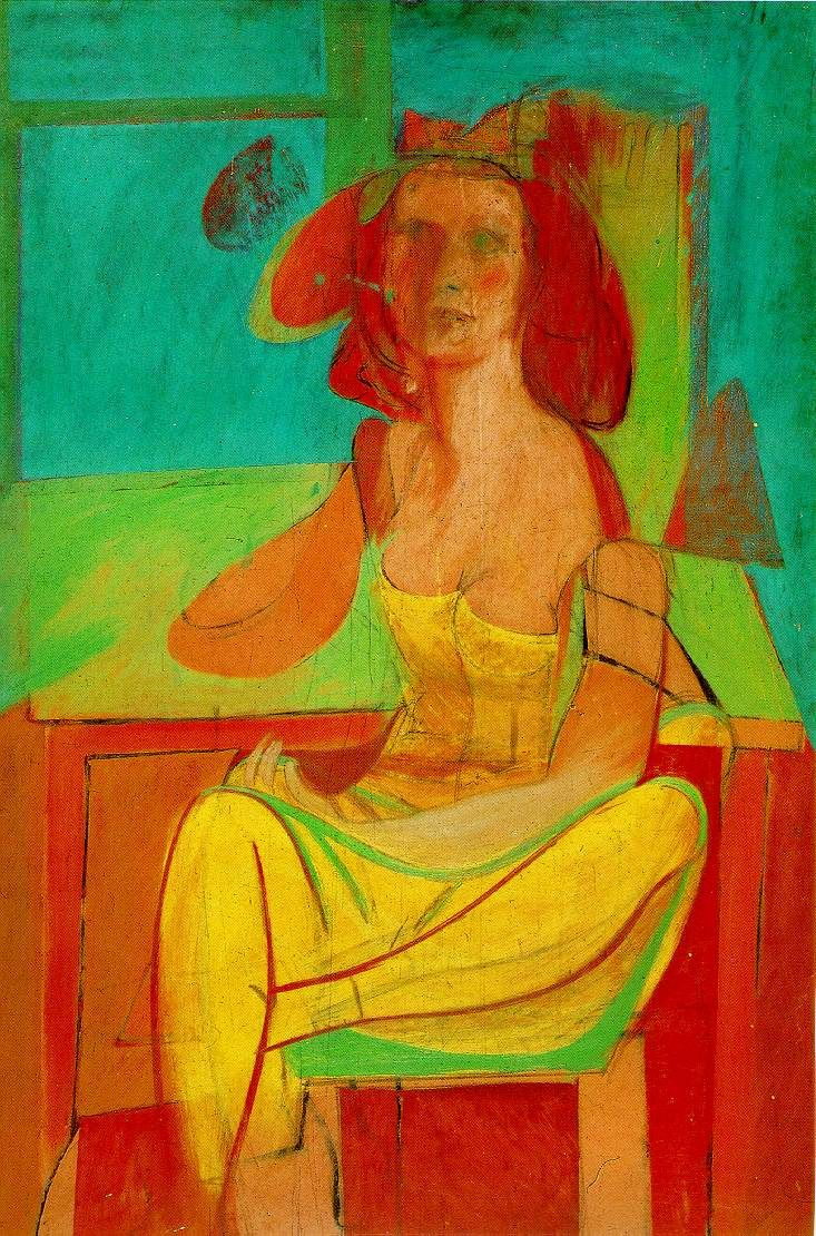 Seated Woman by Willem de Kooning (1940, private collection)