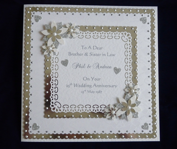 Details About 25th 60th Silver Or Diamond Wedding