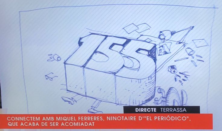 """The Miquel Ferreres caricaturist of the newspaper """"El Periodico"""" that ends up being fired, for being critical to the Spanish government the fomenting hatred and persecution by cutting the rights of the Catalans using the Article 155."""