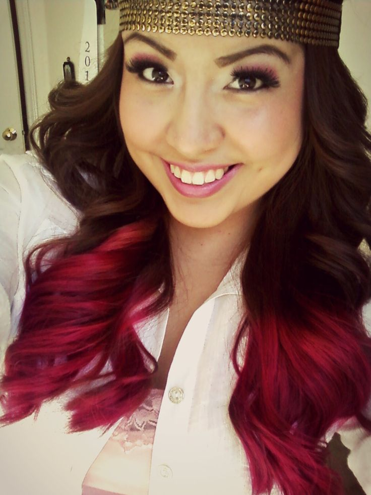 Hot pink ombre hair | Pink hair tips dye | Pinterest