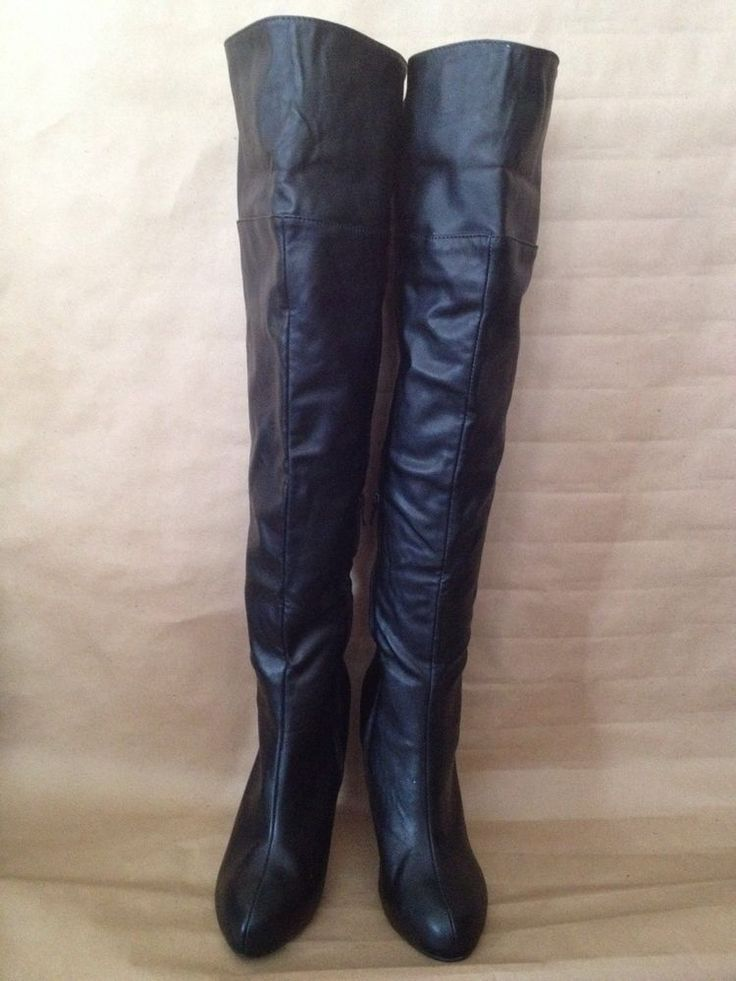 size 9 5 shoedazzle quot akari quot black the knee thigh high