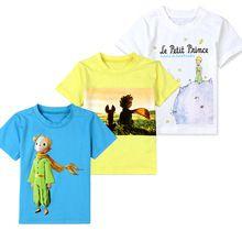 Футболки для мальчиков летние дети 2-7 лет дети одежда мультфильм печати маленький принц с коротким рукавом лучших тройник(China (Mainland))