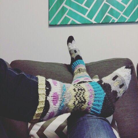 Knitted socks #muitaihaniatalvisukat
