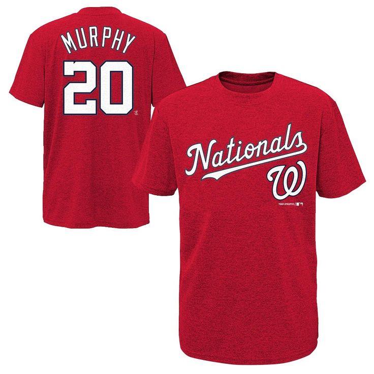Washington Nationals Boys' Daniel Murphy T-Shirt Jersey - Team Color S, Boy's, Multicolored