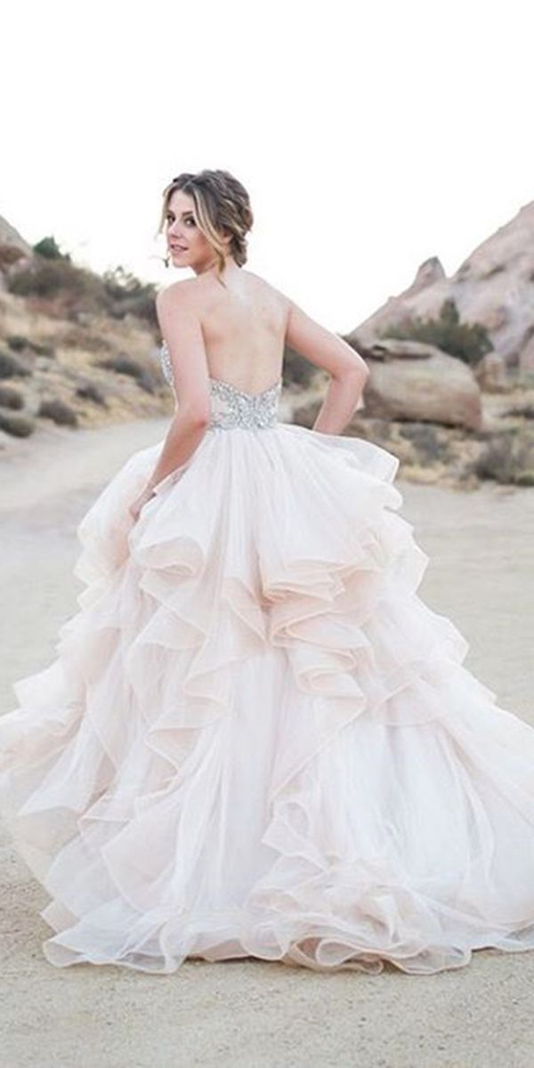 27 Peach & Blush Wedding Dresses You Must See