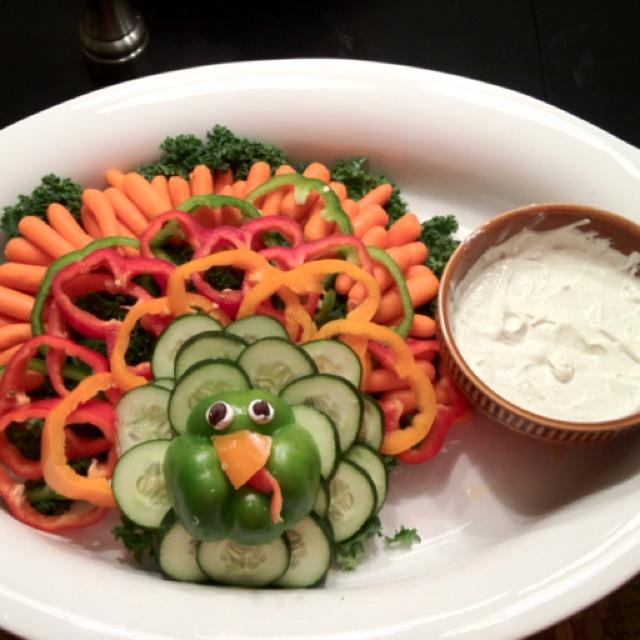 Turkey vegetable tray...like the look, minus the turkey