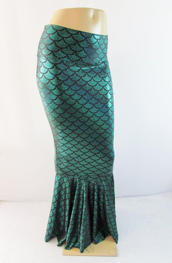Green Mermaid Rock Fischschwanz Stretch von ZanzaDesignsClothing