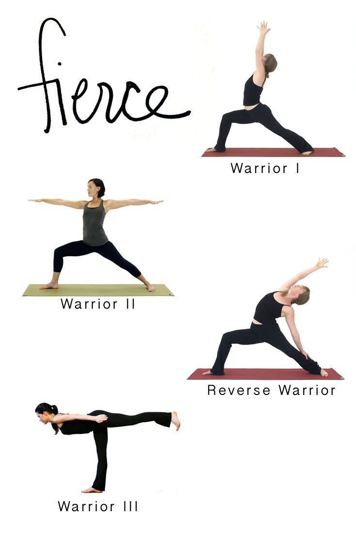 Get Fierce With This Warrior Pose Sequence For Yoga Home Practice This Sequence Of The Five Classic Warrio Basic Yoga Poses Basic Yoga Yoga Poses For Beginners