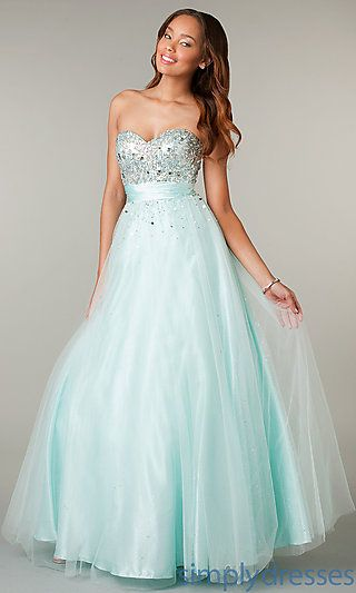 Floor Length Strapless Sweetheart Ball Gown at SimplyDresses.com