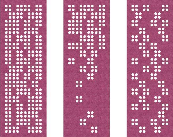 akoestisch paneelgordijn van vilt - akoestiek - cut out - model drop