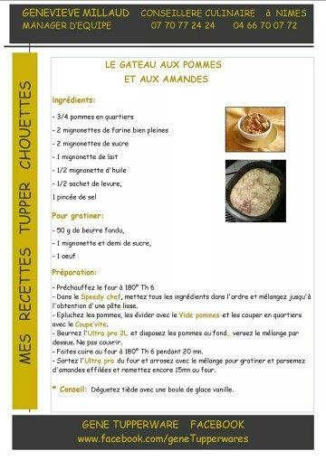Tupperware - Le gateau aux poires et aux amandes
