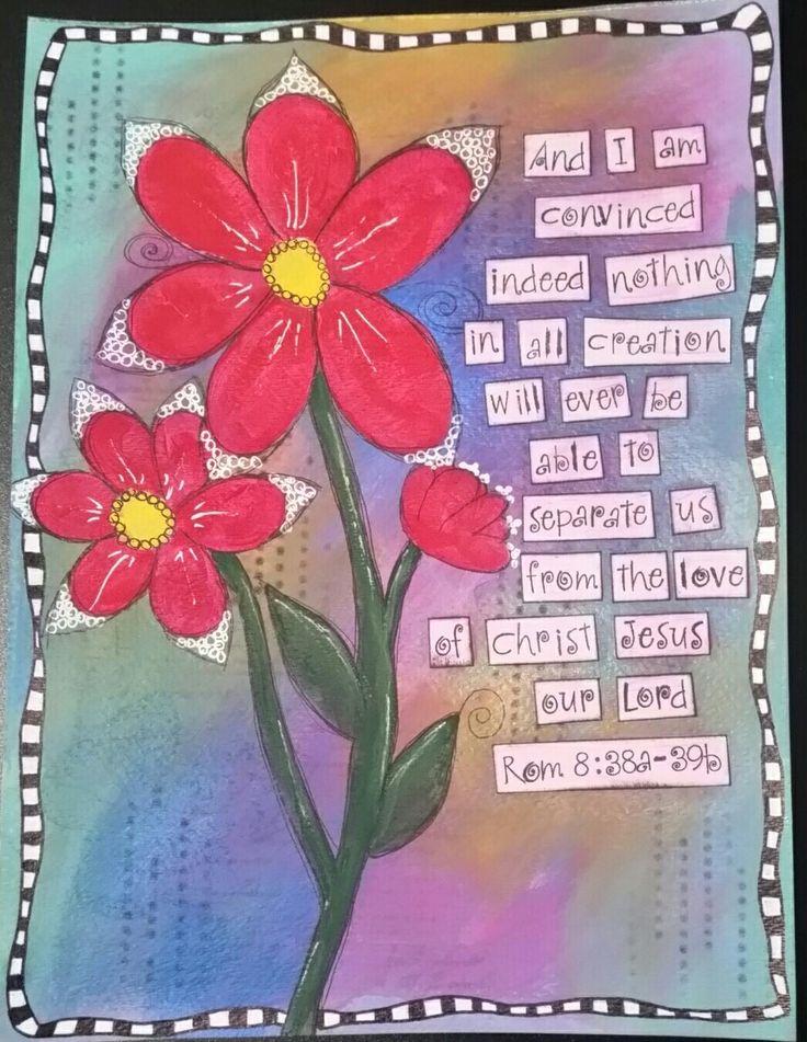 Romans 8:28-39 mixed media piece. JFKimble