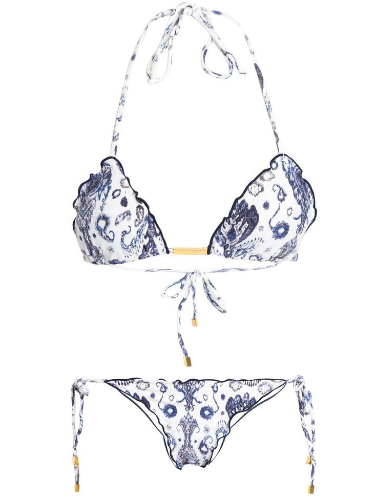 Shop2gether - Biquíni Aisha Ripple - Vix - Branco e Azul