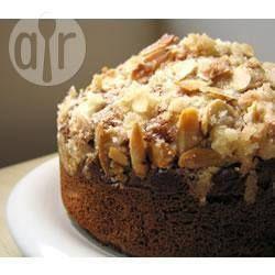 Almond rhubarb tea cake.