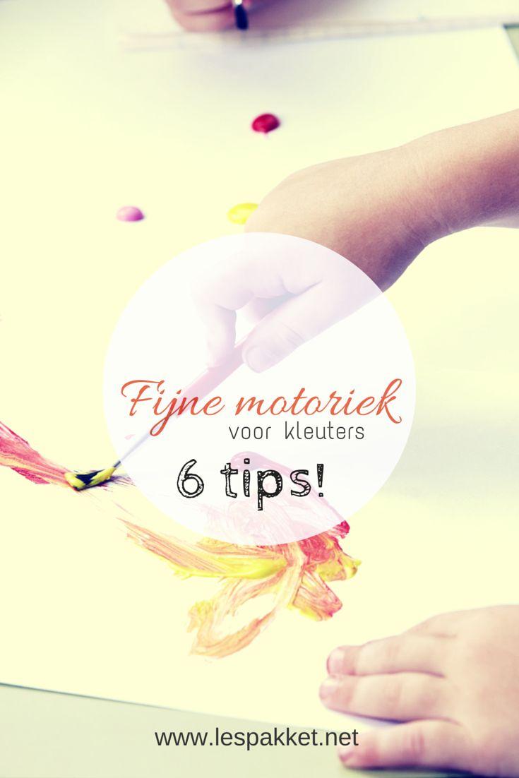 Fijne motoriek voor kleuters: 6 tips