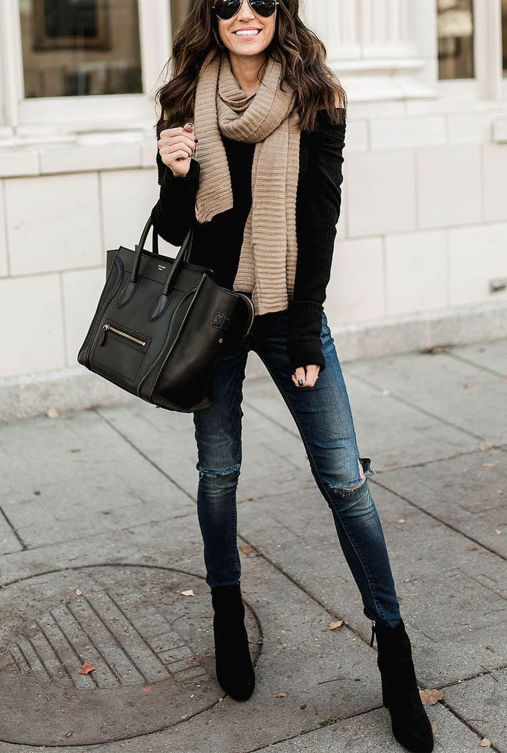 Best Fashion Magazine: Best 25+ Scarf Outfits Ideas On Pinterest