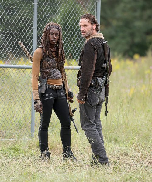 Rick and Michonne in The Walking Dead Season 6 Episode 12 | Not Tomorrow Yet