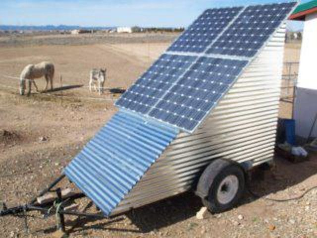 Lower Solar Panels Removed From Mobile Off Grid Solar Power System Trailer For Transport Solar Panels Off Grid Solar Power Solar Energy Panels