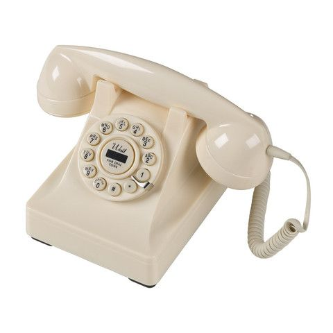 Not living close to your Mum but still love your catch-ups long-distance on the phone?  Why not transport your Mum back in time with this classic retro telephone so she can reminisce about times gone by!  Retro Dial Telephone - Cream | by Cadeaux - Cadeaux.ie