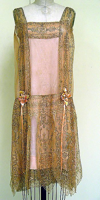 Dress, Evening  Callot Soeurs  (French, active 1895–1937)  Date: ca. 1927 Culture: French Medium: silk, metal