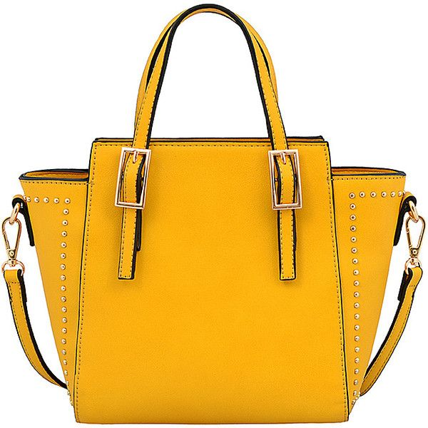 Mellow World Mari Satchel - Mustard - Satchels ($28) ❤ liked on Polyvore featuring bags, handbags, yellow, mini satchel handbags, yellow handbags, mini satchel purse, mustard yellow purse and mini satchel