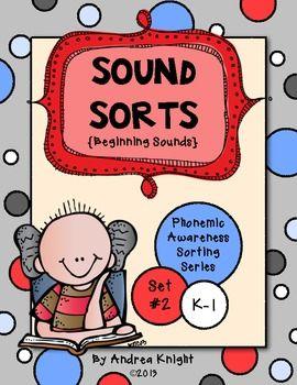 Sound Sorts  {Phonemic Awareness Sorting Series, Set #2}  $