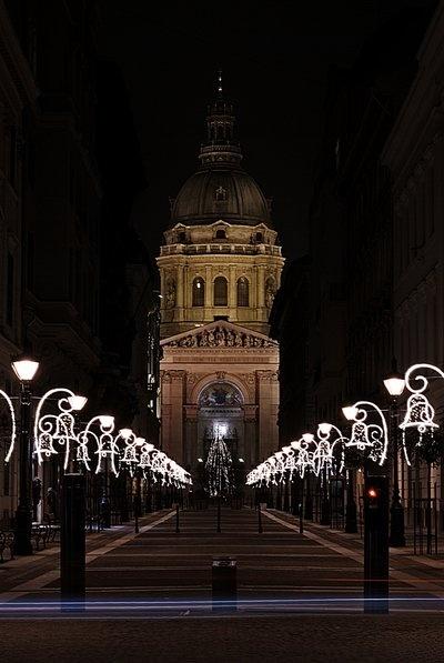 Christmas in Saint Stephen's Basilica, Budapest, Hungary
