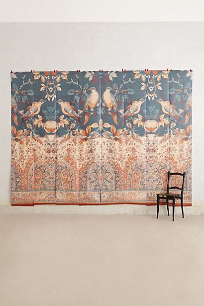 Palace birds mural anthropologie claims to be easily for Anthropologie wallpaper mural