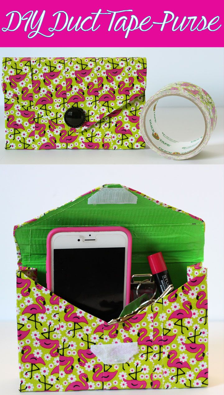 With an upcycled box, a few tools and some Duct Tape, you can create a cute Duct  Tape Purse. It's a super easy fashionable craft that is sure to turn heads!