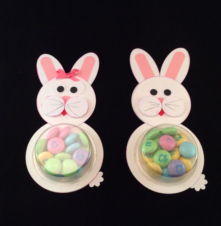 Bunny -- using sweet treat cups from Stampin Up.