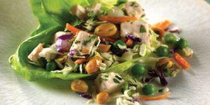 Crunchy Chicken-Cilantro Lettuce Wraps   Diabetes Canada