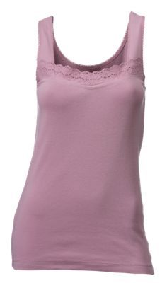 Natural Reflections Eyelet Trim Tank Top for Ladies - Orchid Haze - XXL