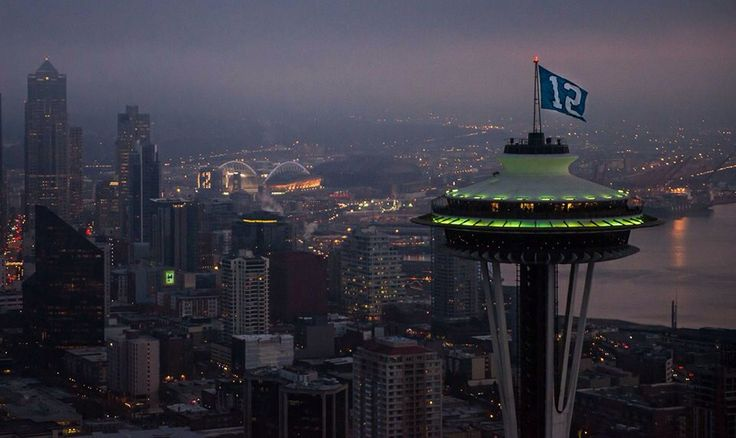 Seattle the night before the 2014 NFC Championship game against the SF 49ers. The calm before the storm!