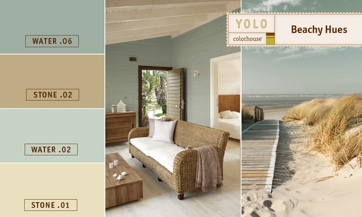 Beachy Hues #color: Decor, Living Room, Bedroom Colors, Paint Colors, Colorhouse Beachy, Yolo Colorhouse, Color Boards