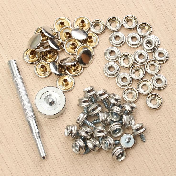 """5.96$  Know more - 62Pcs 3/8"""" Snap Fastener Sets Boat Marine Cover Canvas Canopy Snap Fastener Sockets Screw and Tools for Boat Home Furniture   #aliexpressideas"""