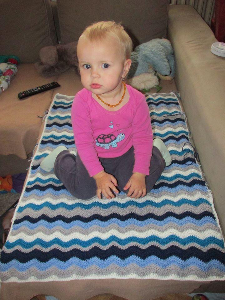 vlnkovaná deka #crochet #blanket