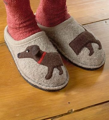 boom....doxie slippers...