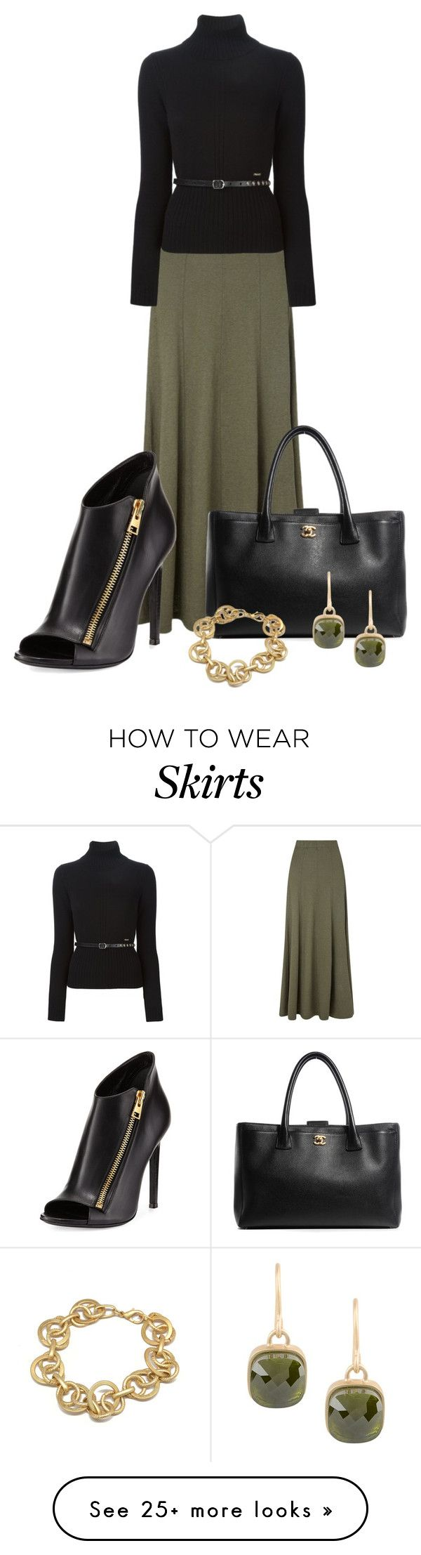 """""""Fall Maxi Skirt"""" by vanessa-bohlmann on Polyvore featuring EAST, Dsquared2, Chanel, Tom Ford and 8"""