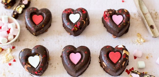 Dark Chocolate rocky road hearts | Food24