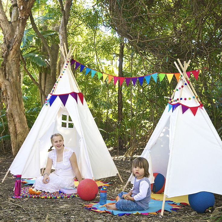 Your kids will enjoy hours of fun playing in their teepee - tent/house/cubby ...there are so many options for imaginative play.  They can tuck themselves away for quiet time with a book, play with their toys, have a tea party or play a game of cowboys and indians - any kind of imaginary play imaginable!