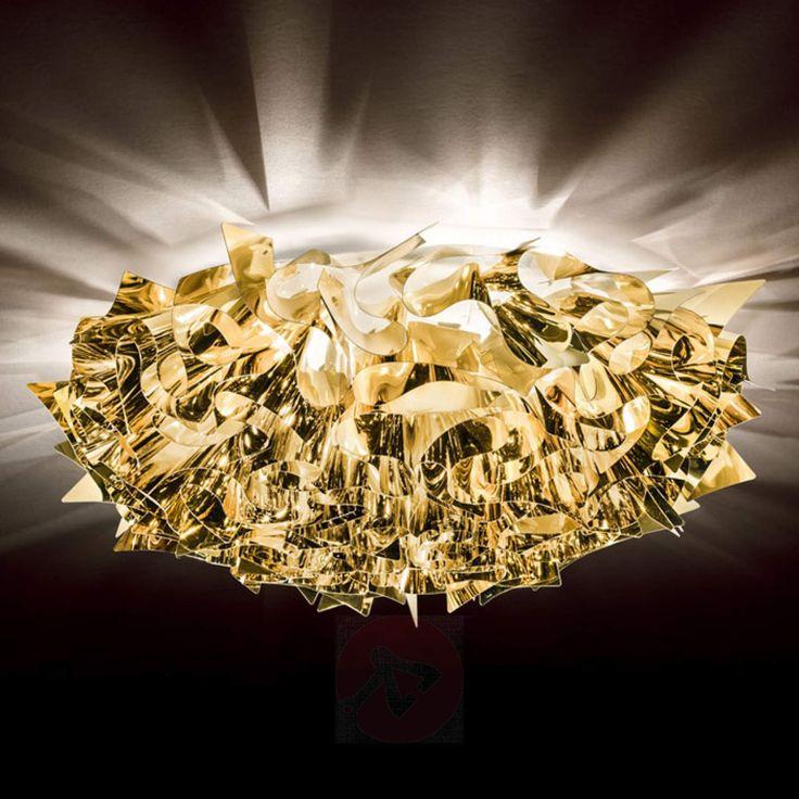 Med gylden glans taklampe Veli Large78 cm-8503214-01
