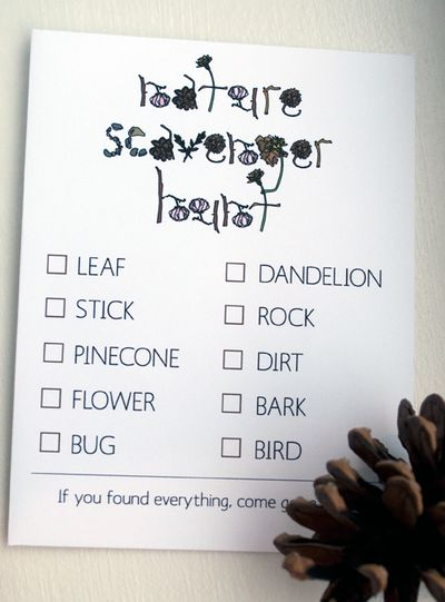 Scavenger hunt. Perfect for birthday party at the park!        A KEEPER!!!!!!!!!!!!