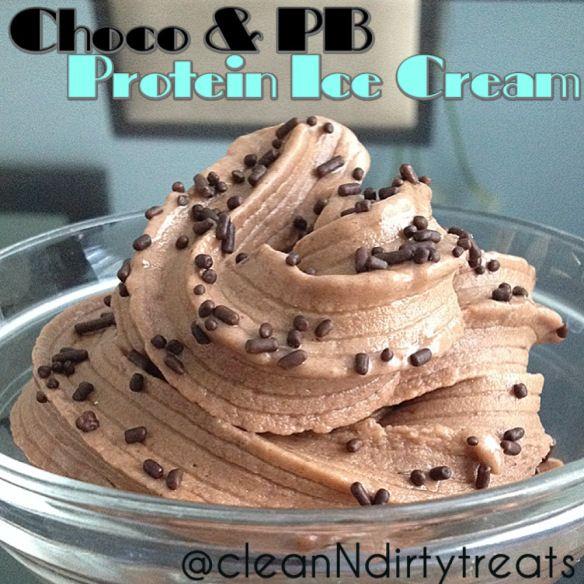 Chocolate Peanut Butter Protein Ice Cream