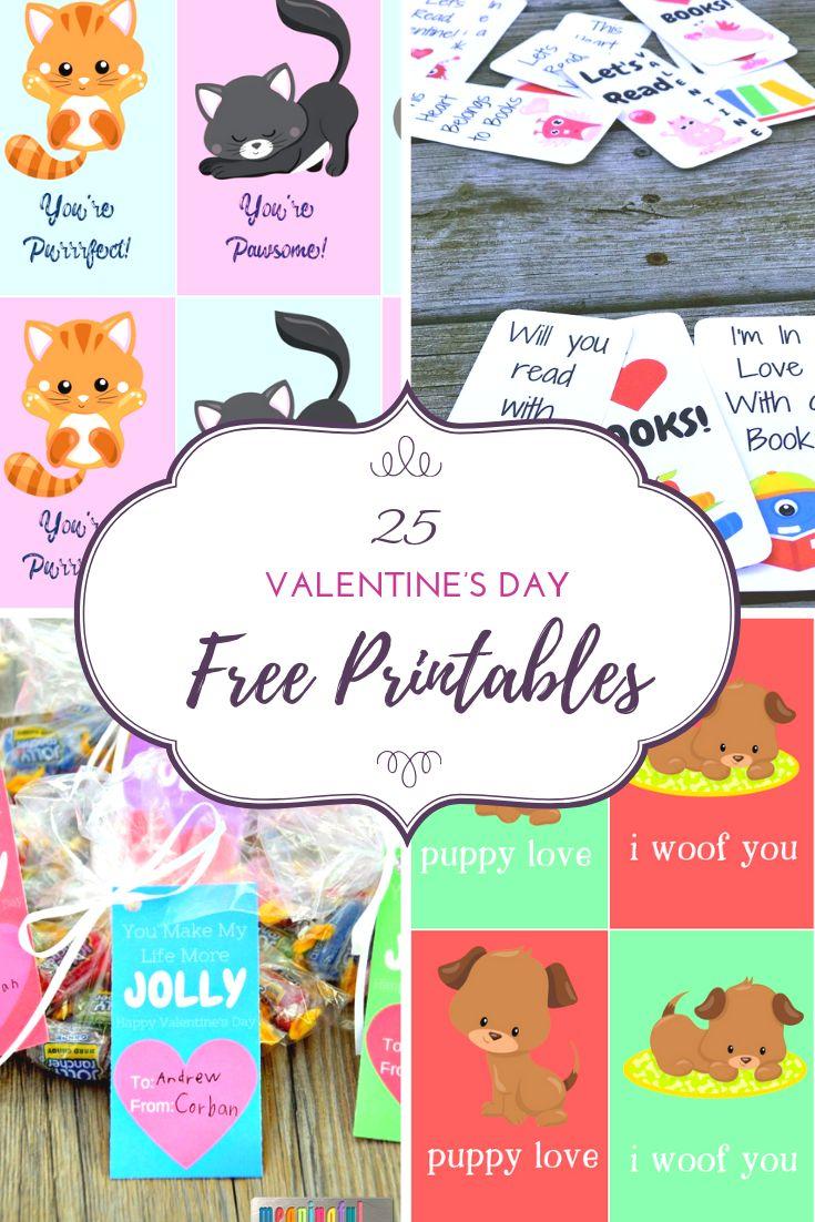 25 Valentine's Day Free Printables