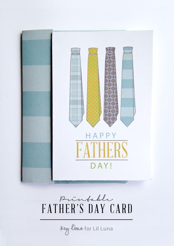 FREE Father's Day Card - go to { lilluna.com } for the printable.