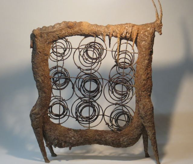 """Klaus Dusselberg, """"Springbook"""", 70x53x15cm, ceramic and steel"""