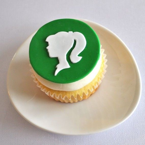 Silhouette Fondant Cupcake Topper from TwoSugarBabies-this seems easy and would be so cute while he still has curls!