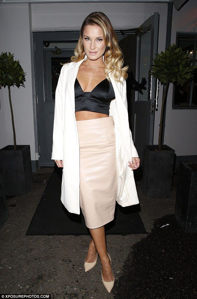 Showing some skin: Sam Faiers goes for a festive girls' night out in Essex on Saturday nig...